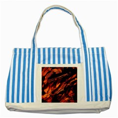 Abstract Acryl Art Striped Blue Tote Bag