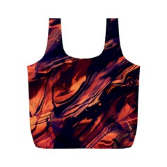Abstract Acryl Art Full Print Recycle Bags (m)
