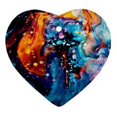 Abstract Acryl Art Ornament (heart)