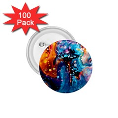 Abstract Acryl Art 1 75  Buttons (100 Pack)