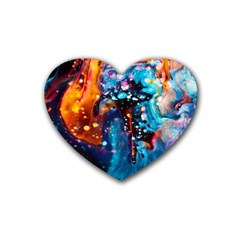 Abstract Acryl Art Rubber Coaster (heart)