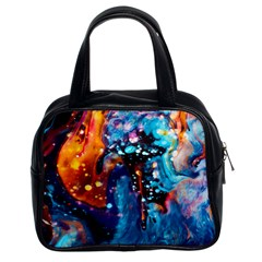 Abstract Acryl Art Classic Handbags (2 Sides)