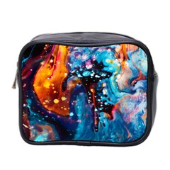Abstract Acryl Art Mini Toiletries Bag 2 Side
