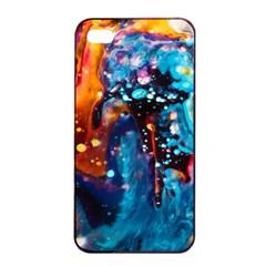 Abstract Acryl Art Apple Iphone 4/4s Seamless Case (black)