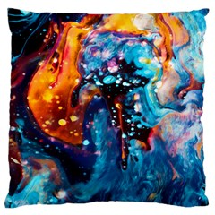 Abstract Acryl Art Large Flano Cushion Case (two Sides)