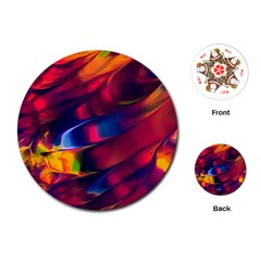 Abstract Acryl Art Playing Cards (round)