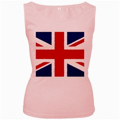Union Jack Pencil Art Women s Pink Tank Top