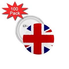 Union Jack Pencil Art 1 75  Buttons (100 Pack)