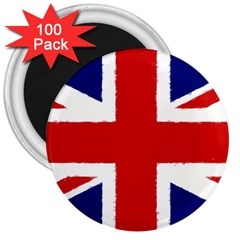 Union Jack Pencil Art 3  Magnets (100 Pack)