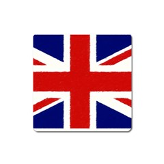 Union Jack Pencil Art Square Magnet