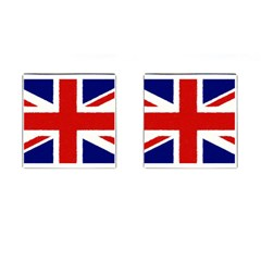 Union Jack Pencil Art Cufflinks (square)