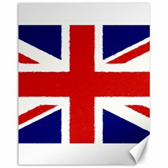 Union Jack Pencil Art Canvas 11  X 14