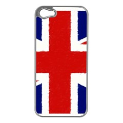 Union Jack Pencil Art Apple Iphone 5 Case (silver)