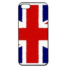 Union Jack Pencil Art Apple Iphone 5 Seamless Case (black)