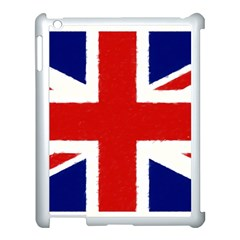 Union Jack Pencil Art Apple Ipad 3/4 Case (white)
