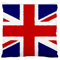 Union Jack Pencil Art Large Flano Cushion Case (two Sides)
