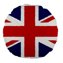 Union Jack Pencil Art Large 18  Premium Flano Round Cushions