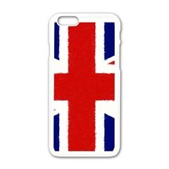Union Jack Pencil Art Apple Iphone 6/6s White Enamel Case