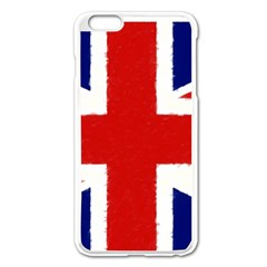 Union Jack Pencil Art Apple Iphone 6 Plus/6s Plus Enamel White Case