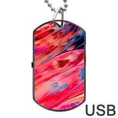Abstract Acryl Art Dog Tag Usb Flash (one Side)
