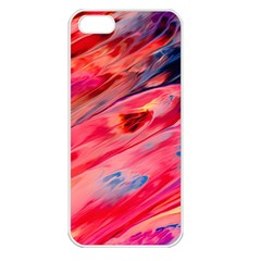 Abstract Acryl Art Apple Iphone 5 Seamless Case (white)