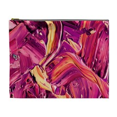 Abstract Acryl Art Cosmetic Bag (xl)