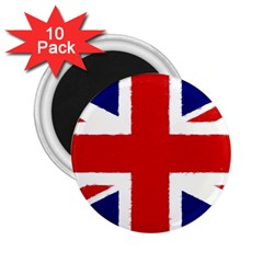 Union Jack Watercolor Drawing Art 2 25  Magnets (10 Pack)