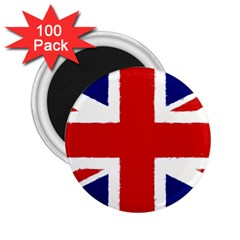 Union Jack Watercolor Drawing Art 2 25  Magnets (100 Pack)
