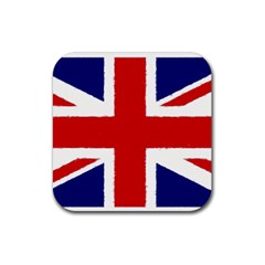 Union Jack Watercolor Drawing Art Rubber Coaster (square)