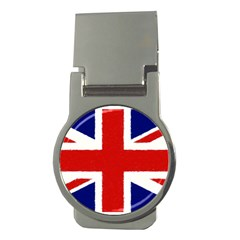 Union Jack Watercolor Drawing Art Money Clips (round)