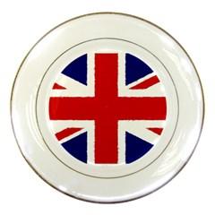 Union Jack Watercolor Drawing Art Porcelain Plates