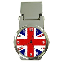 Union Jack Watercolor Drawing Art Money Clip Watches