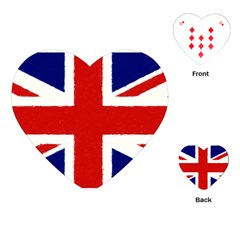 Union Jack Watercolor Drawing Art Playing Cards (heart)