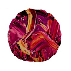 Abstract Acryl Art Standard 15  Premium Round Cushions