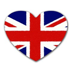 Union Jack Watercolor Drawing Art Heart Mousepads