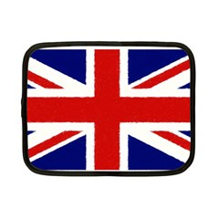 Union Jack Watercolor Drawing Art Netbook Case (small)