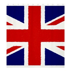 Union Jack Watercolor Drawing Art Shower Curtain 66  X 72  (large)