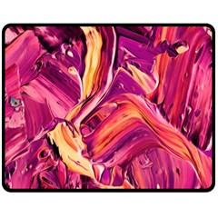 Abstract Acryl Art Double Sided Fleece Blanket (medium)