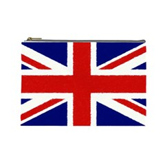 Union Jack Watercolor Drawing Art Cosmetic Bag (large)