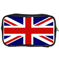 Union Jack Watercolor Drawing Art Toiletries Bags 2 Side