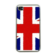 Union Jack Watercolor Drawing Art Apple Iphone 4 Case (clear)