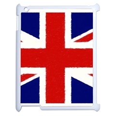 Union Jack Watercolor Drawing Art Apple Ipad 2 Case (white)