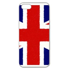 Union Jack Watercolor Drawing Art Apple Seamless Iphone 5 Case (clear)