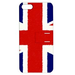 Union Jack Watercolor Drawing Art Apple Iphone 5 Hardshell Case With Stand