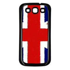 Union Jack Watercolor Drawing Art Samsung Galaxy S3 Back Case (black)