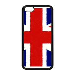 Union Jack Watercolor Drawing Art Apple Iphone 5c Seamless Case (black)