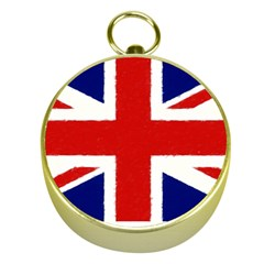 Union Jack Watercolor Drawing Art Gold Compasses