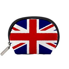 Union Jack Watercolor Drawing Art Accessory Pouches (small)