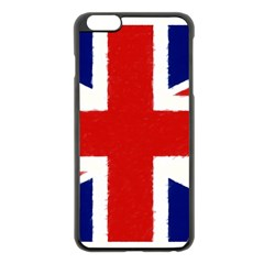 Union Jack Watercolor Drawing Art Apple Iphone 6 Plus/6s Plus Black Enamel Case