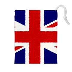 Union Jack Watercolor Drawing Art Drawstring Pouches (extra Large)